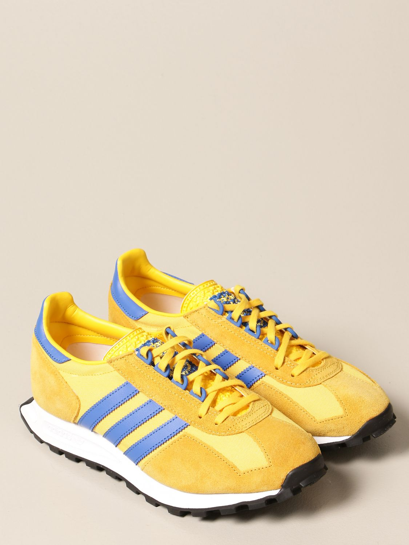 Sneakers Adidas Originals: Sneakers Racing 1 Adidas Originals in pelle e suede oro 2