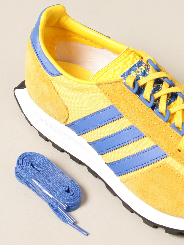 Sneakers Adidas Originals: Sneakers Racing 1 Adidas Originals in pelle e suede oro 4