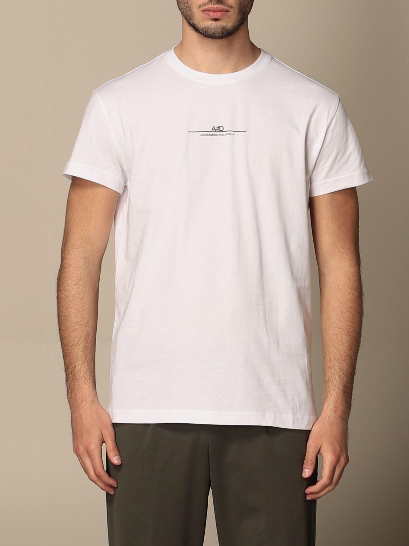 T-shirt Alessandro Dell'acqua: Alessandro Dell'acqua t-shirt in cotton with logo white 1