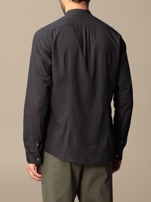 Camicia Alessandro Dell'acqua: Camicia alla coreana Alessandro Dell'acqua blue 2