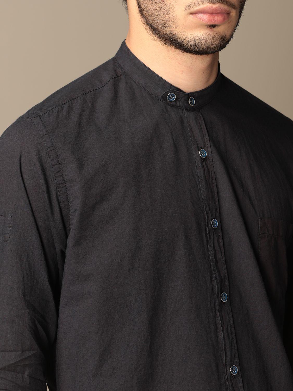 Camicia Alessandro Dell'acqua: Camicia alla coreana Alessandro Dell'acqua blue 3