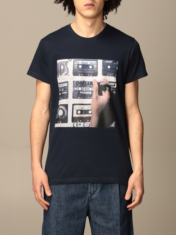T-shirt Daniele Alessandrini: Daniele Alessandrini t-shirt in cotton with print blue 1