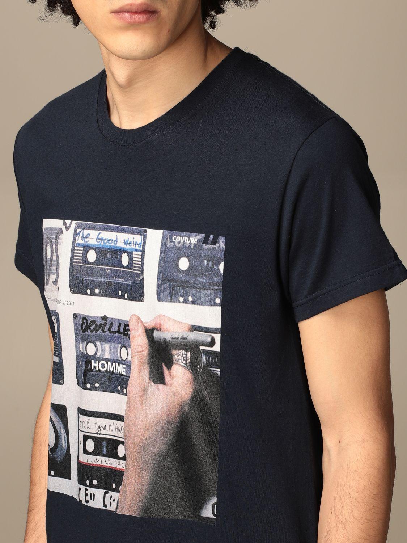 T-shirt Daniele Alessandrini: Daniele Alessandrini t-shirt in cotton with print blue 3