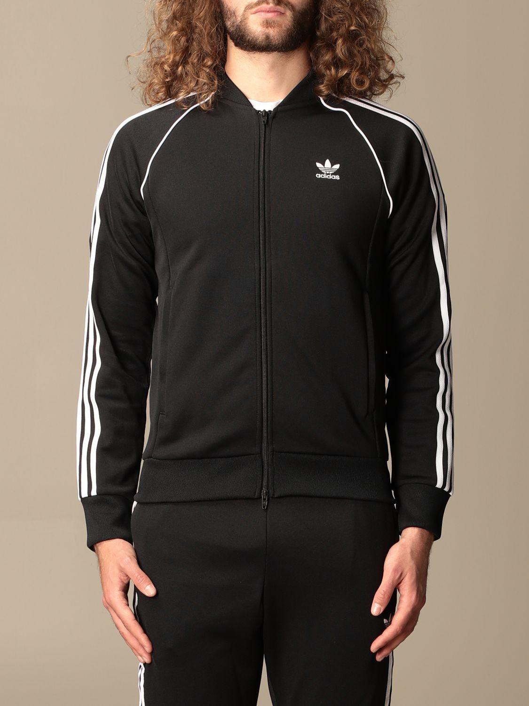 Sweatshirt Adidas Originals: Adidas Originals zip sweatshirt black 1