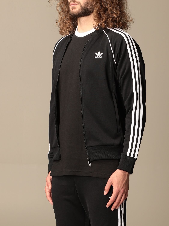 Sweatshirt Adidas Originals: Adidas Originals zip sweatshirt black 4