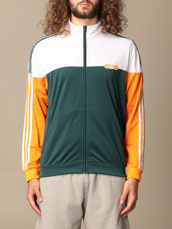 Sweatshirt Adidas Originals: Adidas Originals tricolor zip sweatshirt green 1