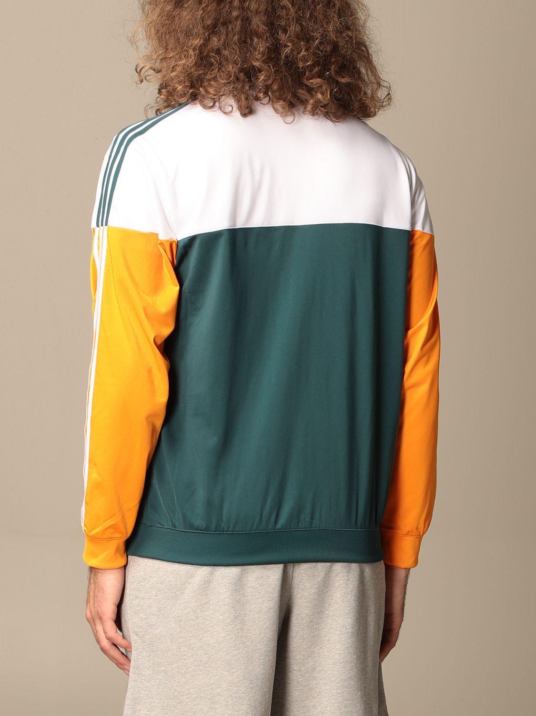 Sweatshirt Adidas Originals: Adidas Originals tricolor zip sweatshirt green 2