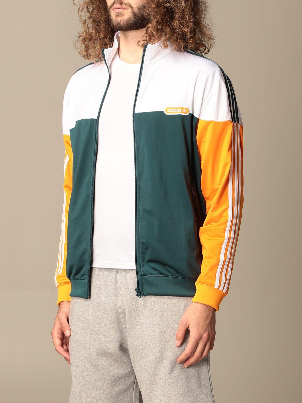 Sweatshirt Adidas Originals: Adidas Originals tricolor zip sweatshirt green 3