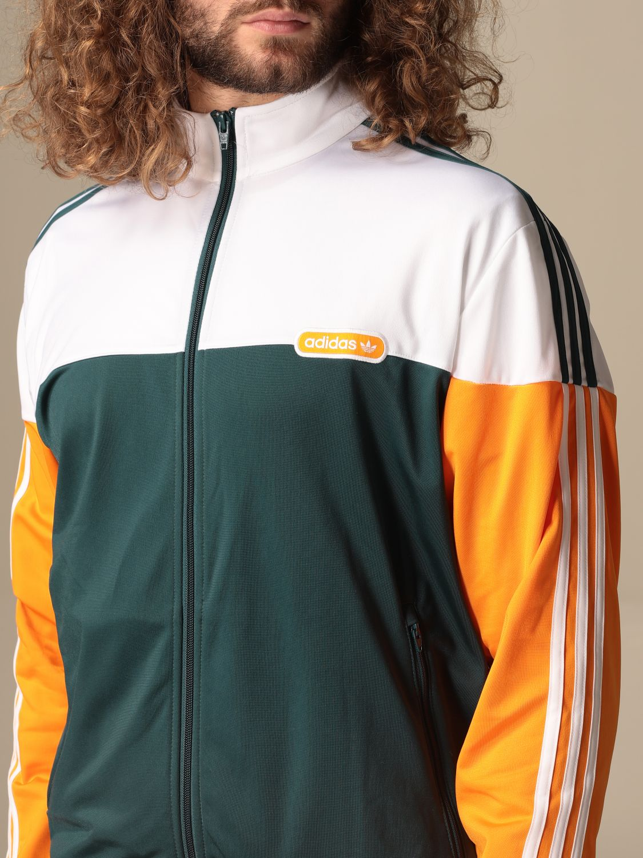 Sweatshirt Adidas Originals: Adidas Originals tricolor zip sweatshirt green 4