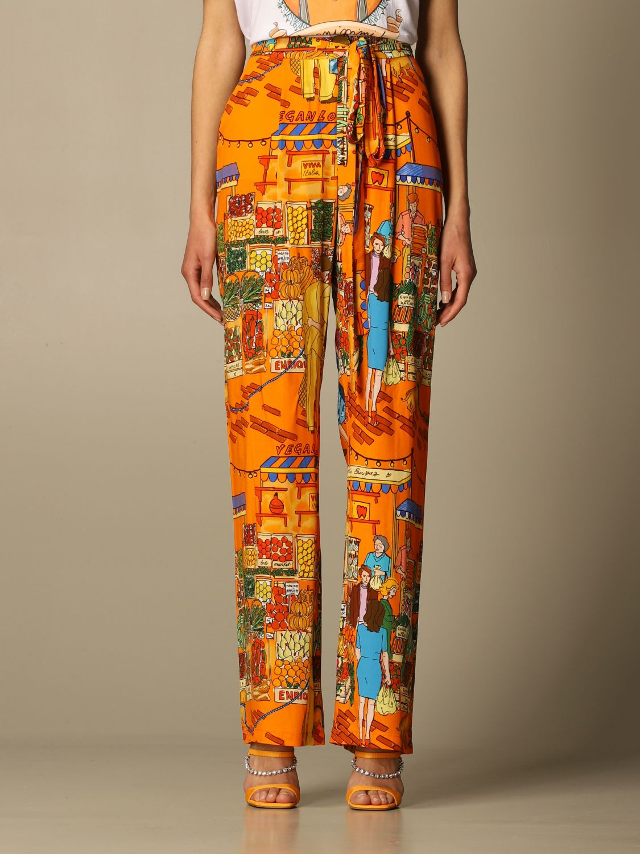 Pantalon Alessandro Enriquez: Pantalon femme Alessandro Enriquez multicolore 1