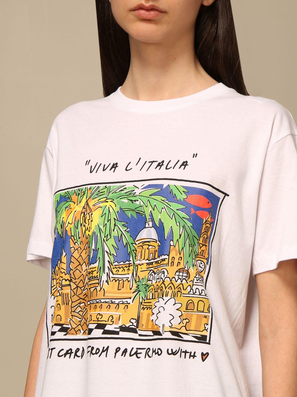 T-shirt Alessandro Enriquez: T-shirt Alessandro Enriquez con stampa fantasia 4
