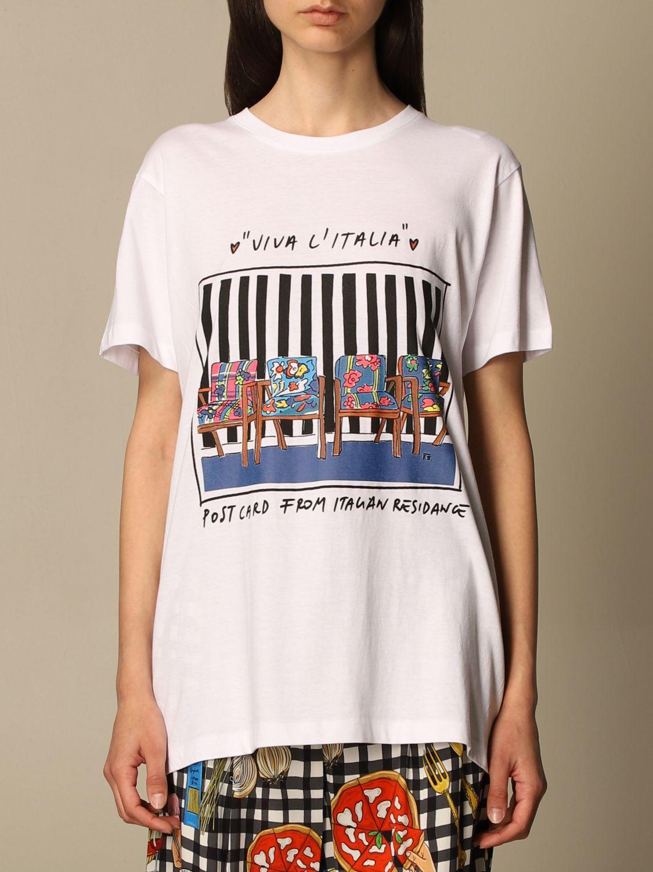 T-shirt Alessandro Enriquez: T-shirt Alessandro Enriquez con stampa fantasia 1