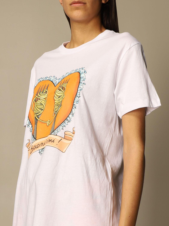 T-shirt Alessandro Enriquez: T-shirt femme Alessandro Enriquez blanc 4