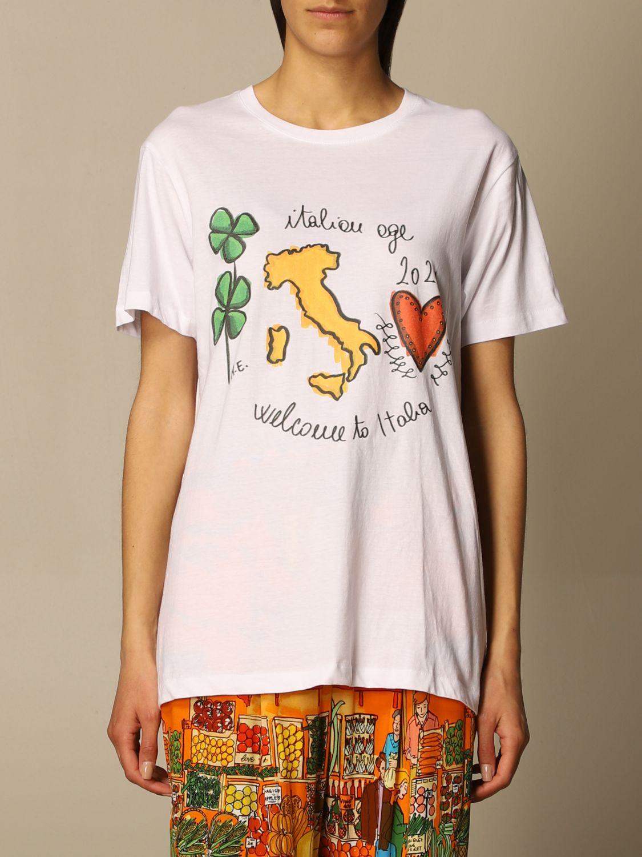T-shirt Alessandro Enriquez: T-shirt Alessandro Enriquez con stampa bianco 1