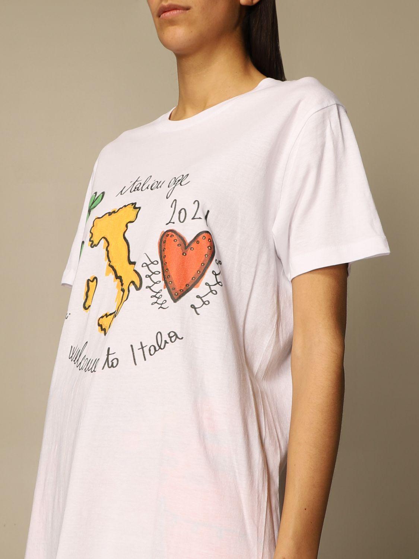 T-shirt Alessandro Enriquez: T-shirt Alessandro Enriquez con stampa bianco 4