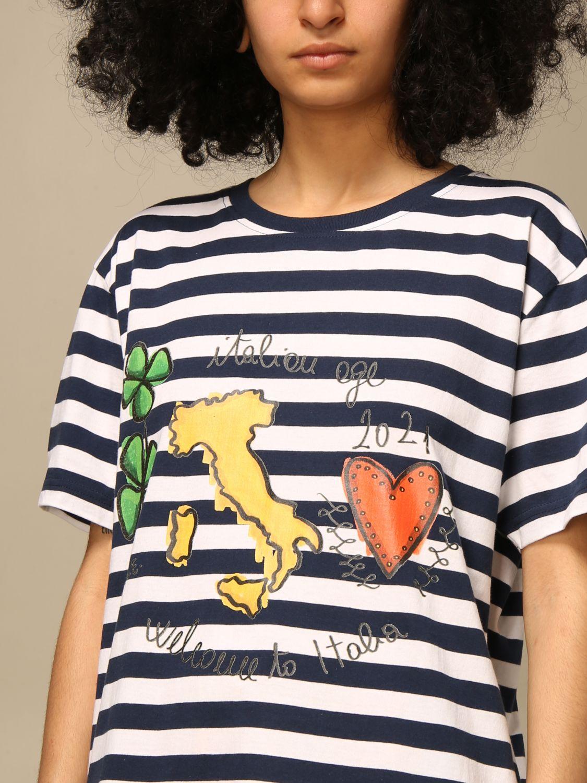T-shirt Alessandro Enriquez: T-shirt femme Alessandro Enriquez multicolore 4