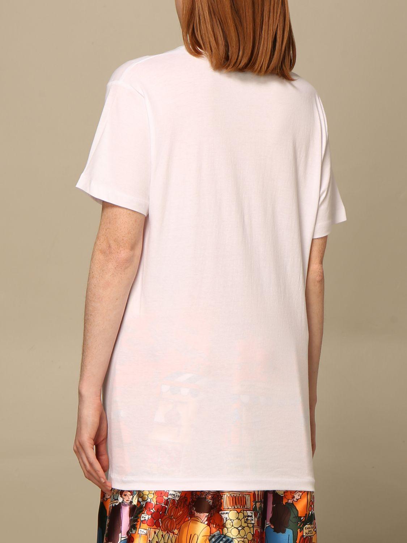T-shirt Alessandro Enriquez: T-shirt Alessandro Enriquez a righe con stampa bianco 3