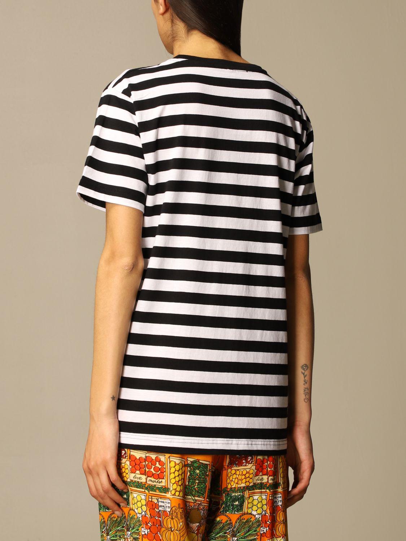 T-shirt Alessandro Enriquez: T-shirt Alessandro Enriquez a righe con stampa fantasia 3