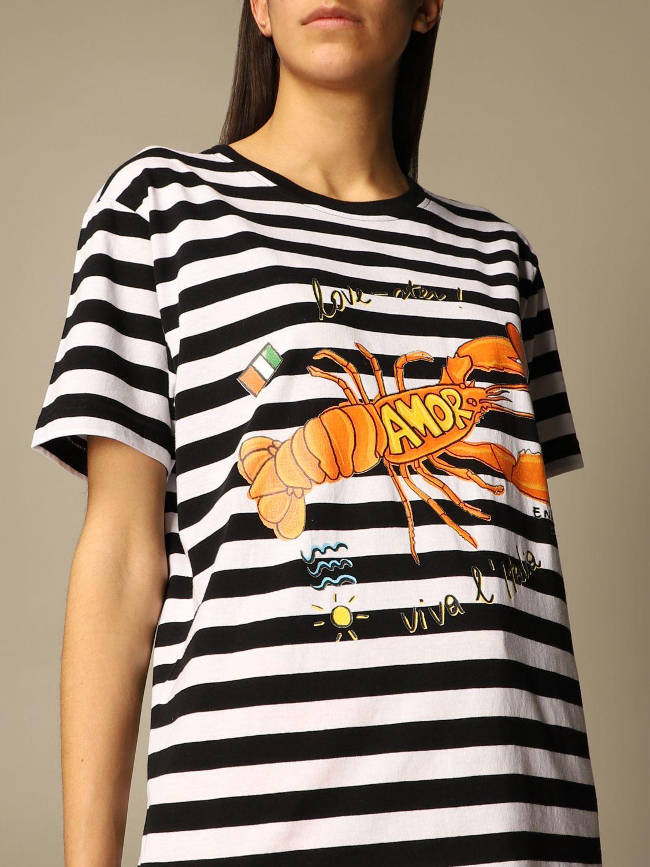 T-shirt Alessandro Enriquez: T-shirt Alessandro Enriquez a righe con stampa fantasia 4