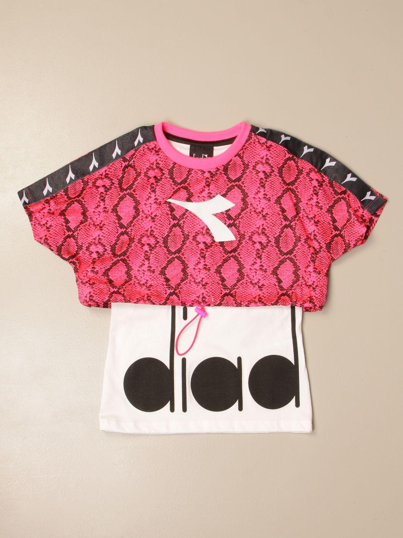 Camisetas Diadora: Camisetas niños Diadora fucsia 1