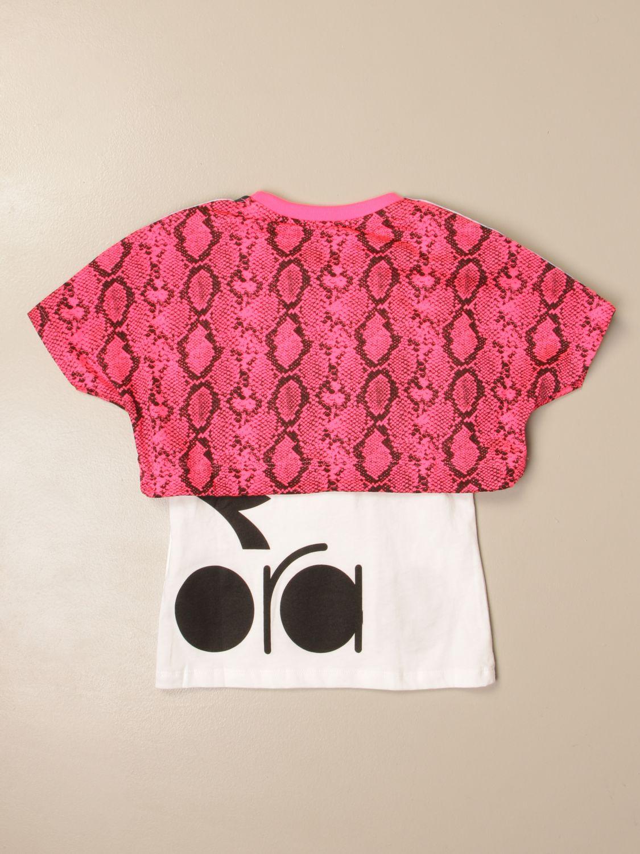 Camisetas Diadora: Camisetas niños Diadora fucsia 2