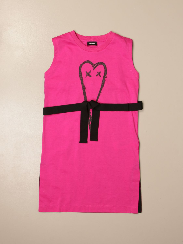 Vestido Diesel: Vestido niños Diesel rosa 1