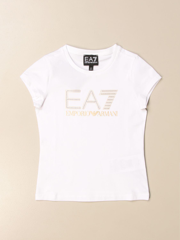 T-Shirt Ea7: T-shirt kinder Ea7 weiß 1