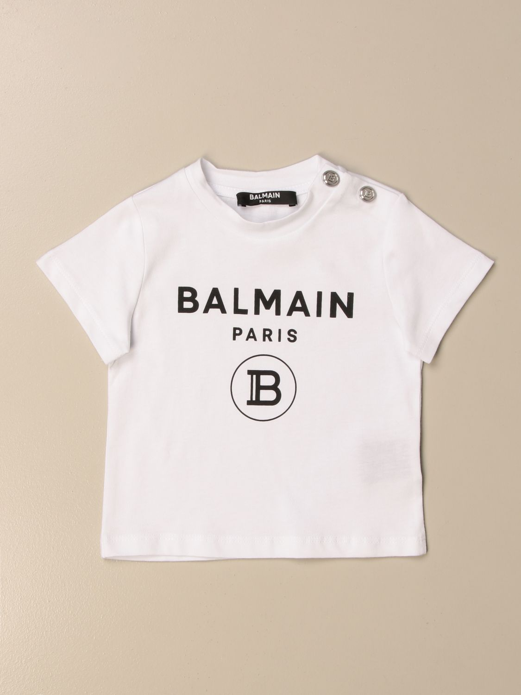 Camiseta Balmain: Camiseta niños Balmain blanco 1