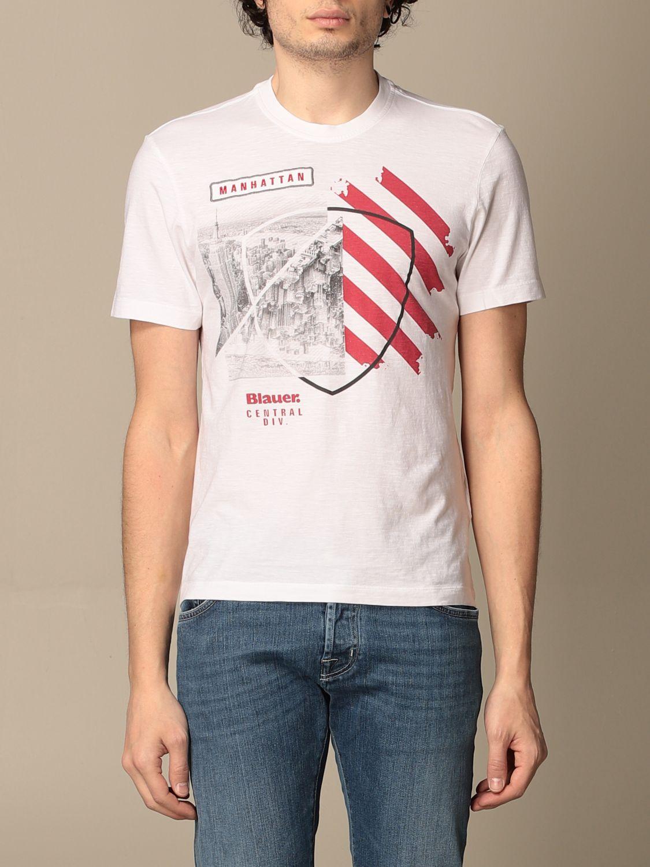 T-shirt Blauer: T-shirt men Blauer white 1
