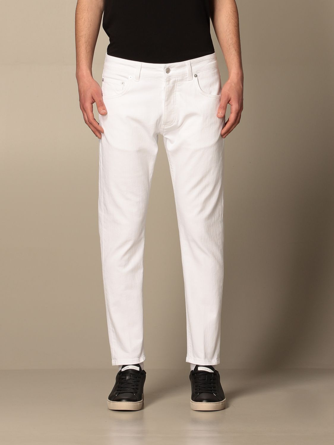 Pantalone Be Able: Pantalone a 5 tasche Be Able in cotone stretch bianco 1