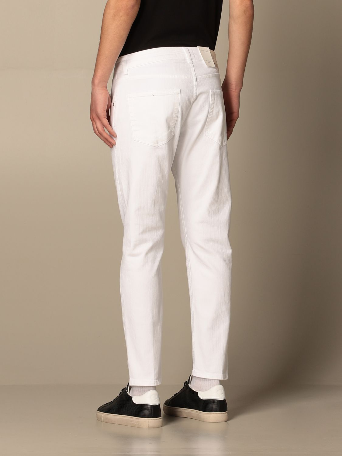Pantalone Be Able: Pantalone a 5 tasche Be Able in cotone stretch bianco 2