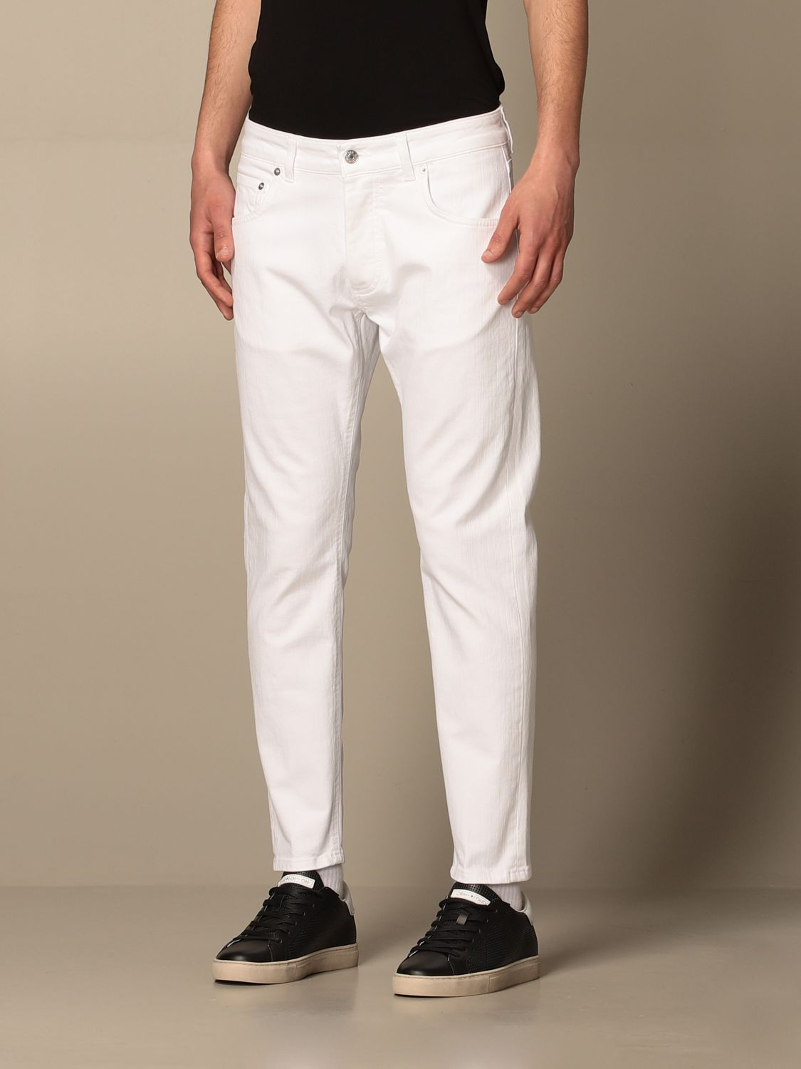Pantalone Be Able: Pantalone a 5 tasche Be Able in cotone stretch bianco 3