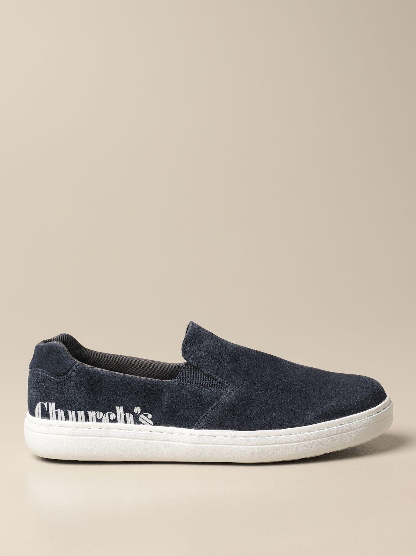 Mocassini Church's: Sneakers Church's in camoscio blue 1