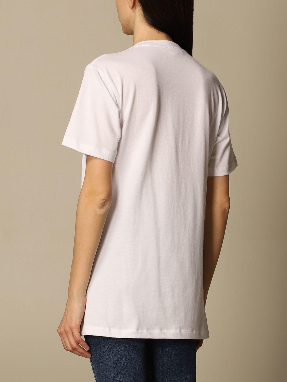 T-shirt Elisabetta Franchi: T-shirt Elisabetta Franchi in jersey di cotone con logo bianco 3