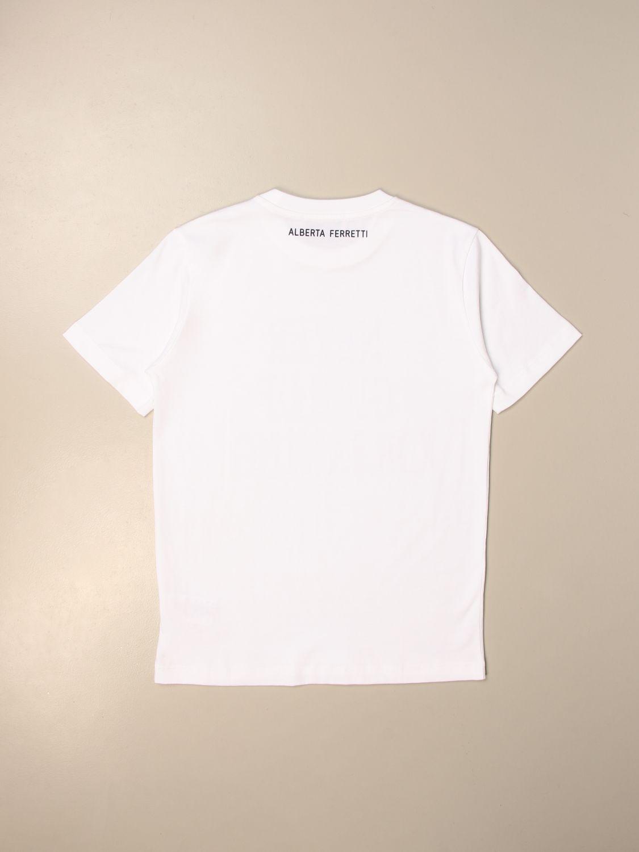 Camisetas Alberta Ferretti Junior: Camisetas niños Alberta Ferretti Junior blanco 2