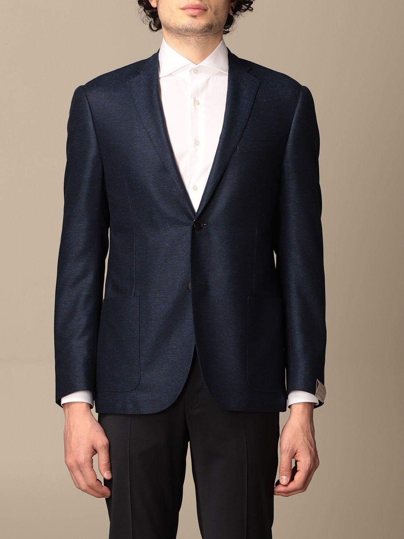 Blazer Corneliani: Jacket men Corneliani gnawed blue 1