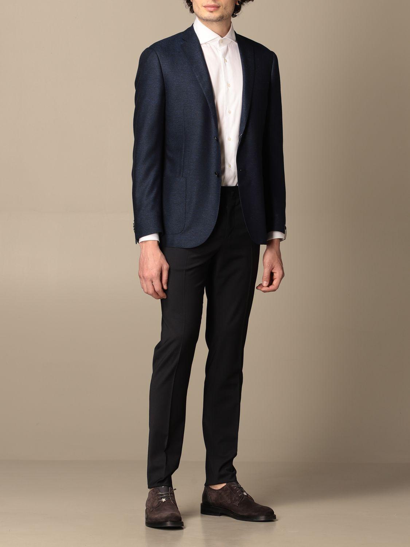 Blazer Corneliani: Jacket men Corneliani gnawed blue 2