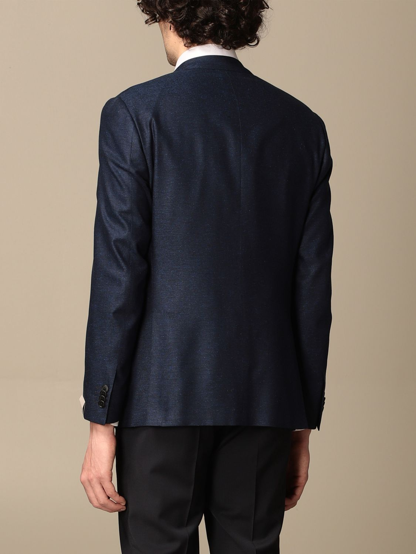 Blazer Corneliani: Jacket men Corneliani gnawed blue 3
