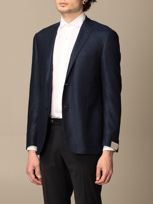 Blazer Corneliani: Jacket men Corneliani gnawed blue 4
