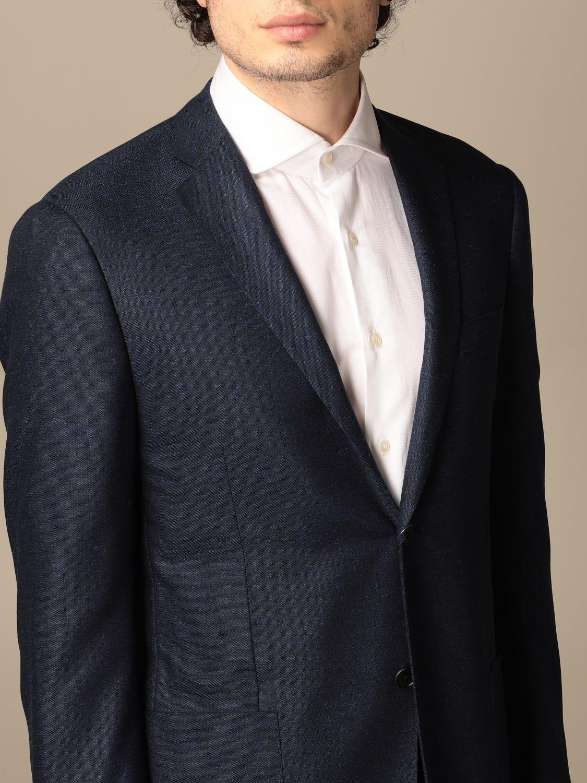 Blazer Corneliani: Jacket men Corneliani gnawed blue 5