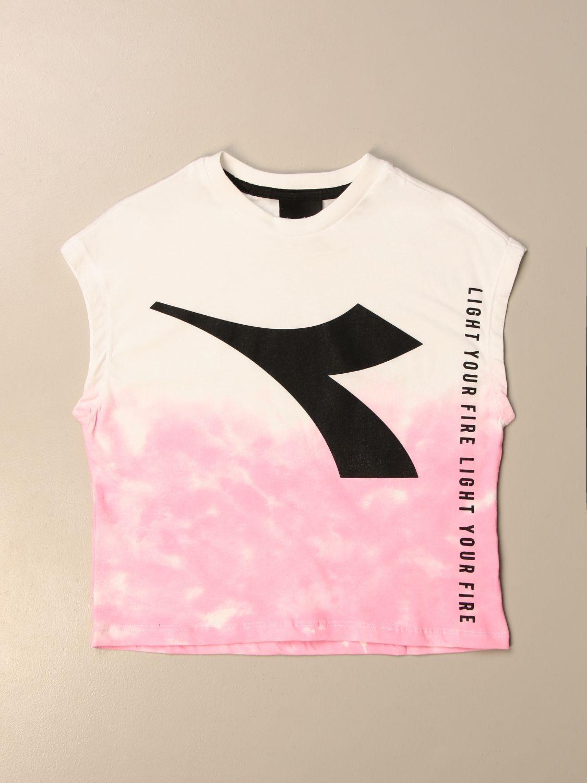Camisetas Diadora: Camisetas niños Diadora rosa 1