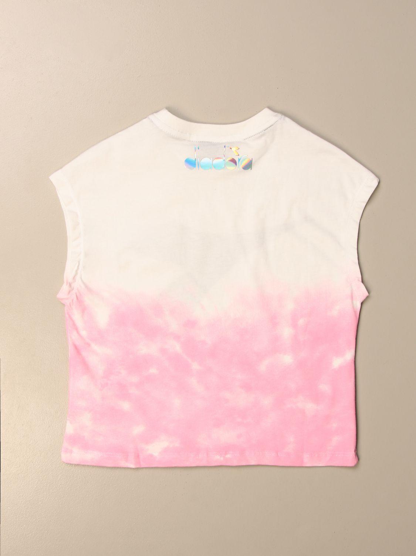 Camisetas Diadora: Camisetas niños Diadora rosa 2