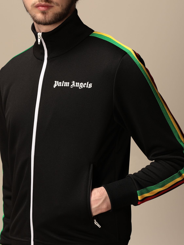 Felpa Palm Angels: Felpa con zip Palm Angels con logo nero 4