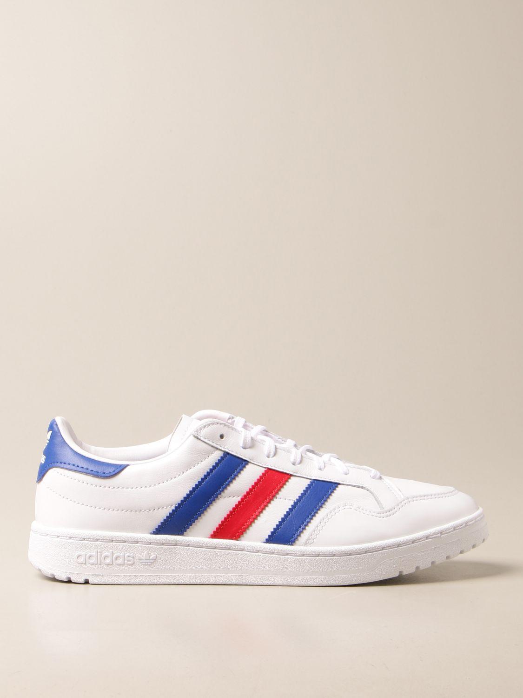 Sneakers Adidas Originals: Sneakers Team Court Adidas Originals in pelle bianco 1