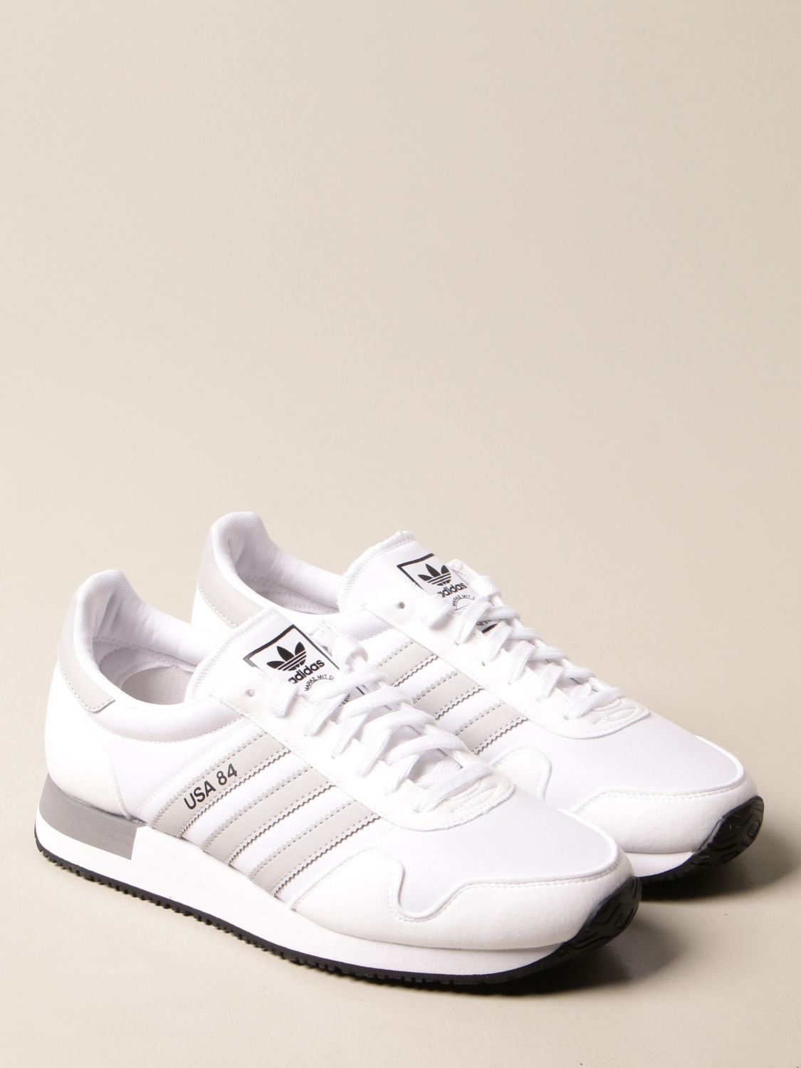 Sneakers Adidas Originals: Sneakers Usa 84 Adidas Originals in nylon and synthetic suede white 2