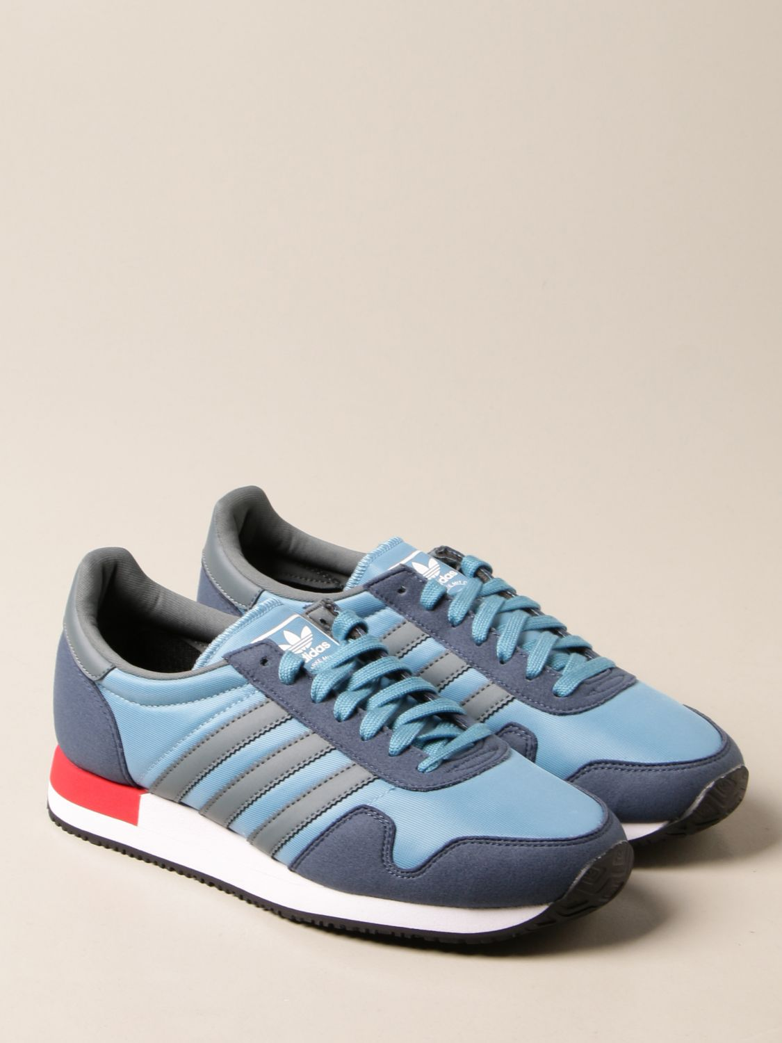 Trainers Adidas Originals: Sneakers Usa 84 Adidas Originals in nylon and synthetic suede blue 2