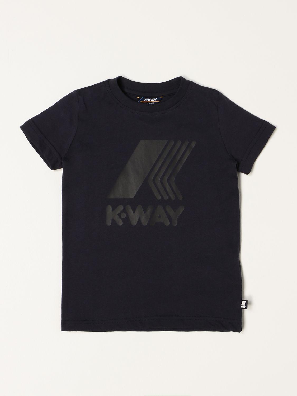 T-shirt K-Way: T-shirt K-way con logo blue 1