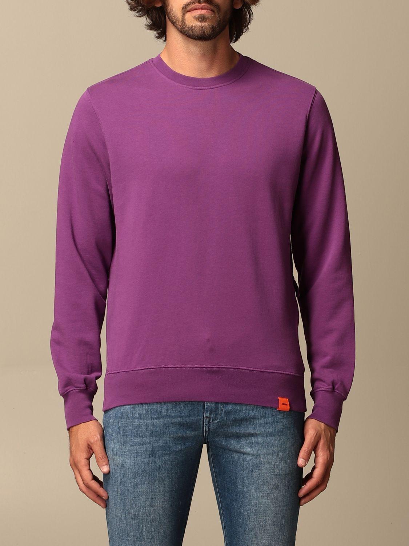 Sweatshirt Aspesi: Aspesi basic crewneck sweatshirt violet 1