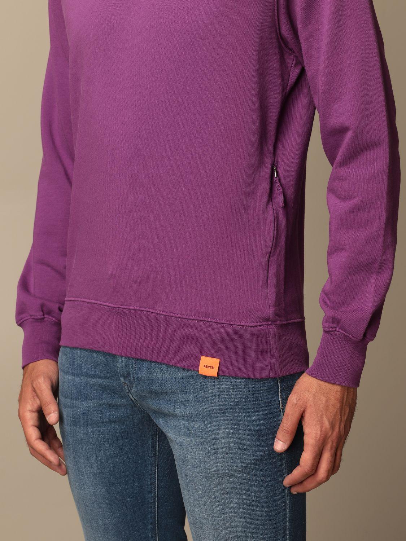 Sweatshirt Aspesi: Aspesi basic crewneck sweatshirt violet 3
