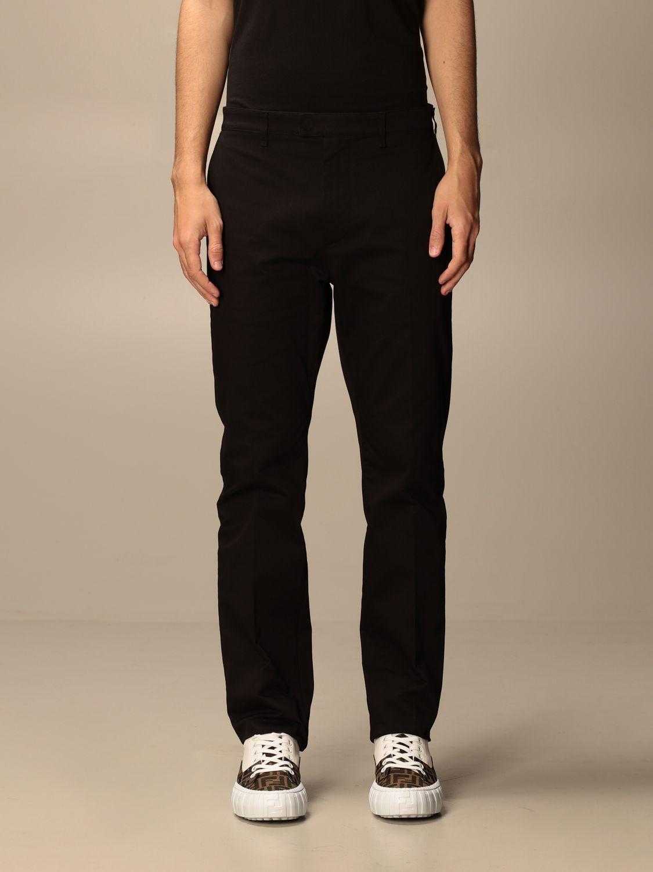 Pantalone Fendi: Pantalone sartoriale Fendi a vita alta nero 1